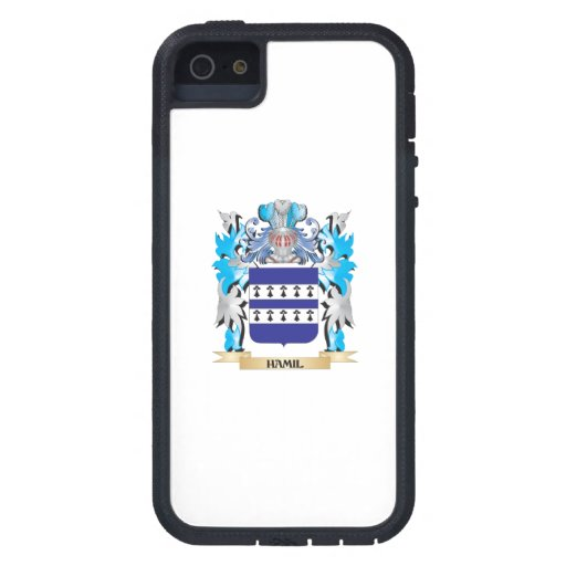 Escudo de armas de Hamil - escudo de la familia iPhone 5 Case-Mate Cárcasa