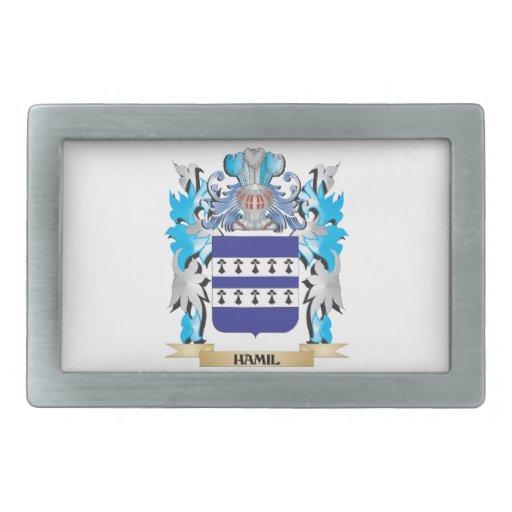 Escudo de armas de Hamil - escudo de la familia Hebilla De Cinturon Rectangular