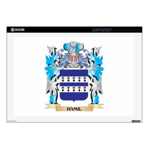 Escudo de armas de Hamil - escudo de la familia Calcomanía Para 43,2cm Portátil