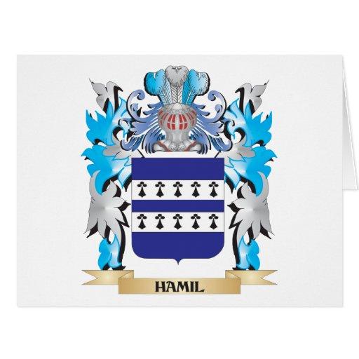 Escudo de armas de Hamil - escudo de la familia Felicitación