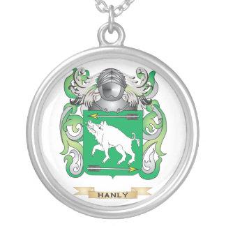 Escudo de armas de Hanly (escudo de la familia) Colgante Redondo