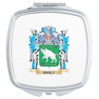 Escudo de armas de Hanly - escudo de la familia Espejos De Maquillaje