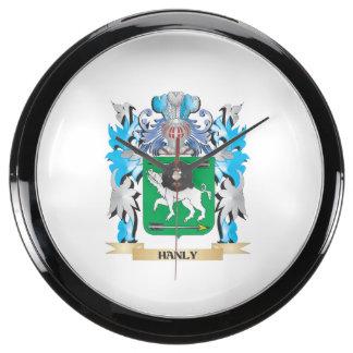 Escudo de armas de Hanly - escudo de la familia Relojes Aqua Clock