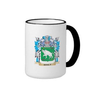 Escudo de armas de Hanly - escudo de la familia Taza A Dos Colores