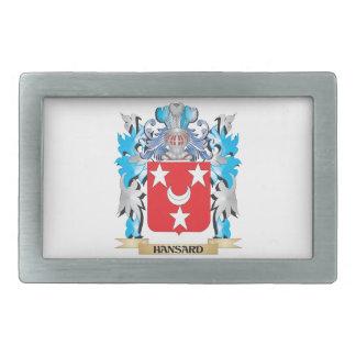 Escudo de armas de Hansard - escudo de la familia Hebilla Cinturon