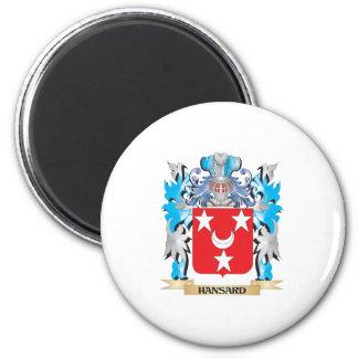 Escudo de armas de Hansard - escudo de la familia Iman Para Frigorífico