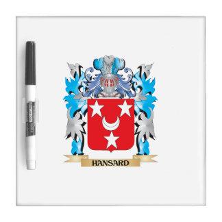 Escudo de armas de Hansard - escudo de la familia Pizarras Blancas