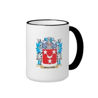 Escudo de armas de Hansard - escudo de la familia Tazas