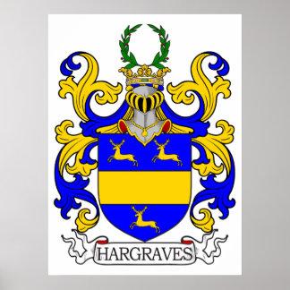 Escudo de armas de Hargraves Póster