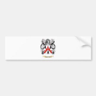 Escudo de armas de Harvey (escudo de la familia) Pegatina De Parachoque