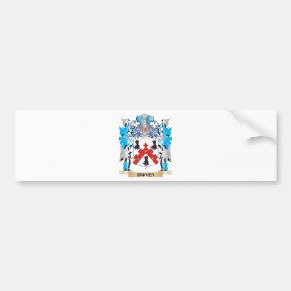 Escudo de armas de Harvey - escudo de la familia Pegatina Para Coche