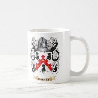 Escudo de armas de Harvey (escudo de la familia) Tazas De Café