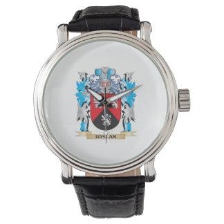 Escudo de armas de Haslam - escudo de la familia Relojes
