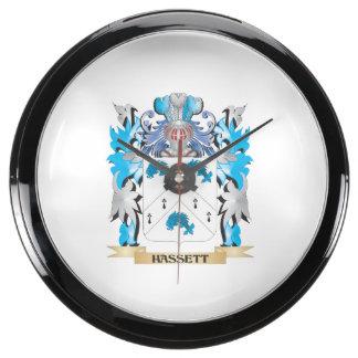 Escudo de armas de Hassett - escudo de la familia Relojes Acuario