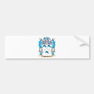 Escudo de armas de Hassett - escudo de la familia Etiqueta De Parachoque