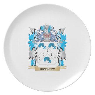 Escudo de armas de Hassett - escudo de la familia Plato De Comida