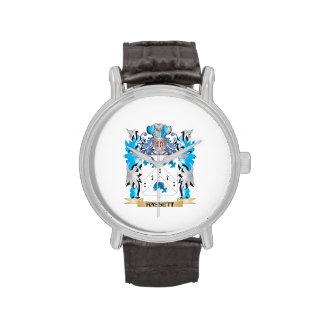 Escudo de armas de Hassett - escudo de la familia Reloj