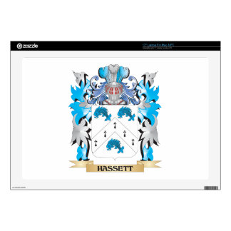 Escudo de armas de Hassett - escudo de la familia Calcomanía Para Portátil