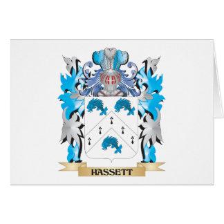 Escudo de armas de Hassett - escudo de la familia Tarjeton