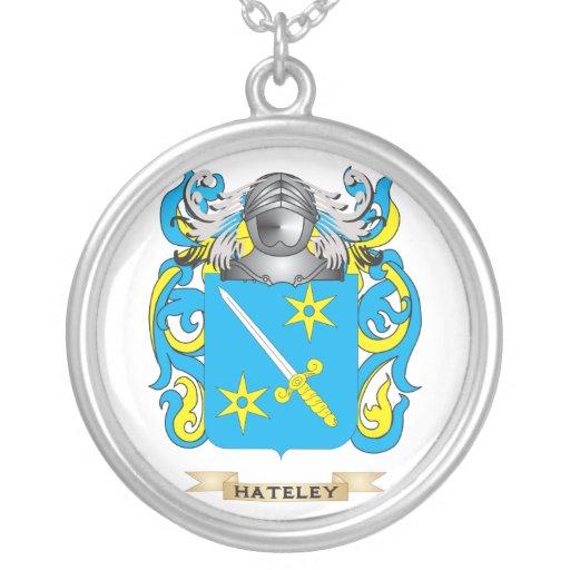 Escudo de armas de Hateley (escudo de la familia) Pendientes Personalizados