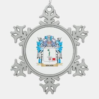 Escudo de armas de Hauch - escudo de la familia Adorno De Peltre En Forma De Copo De Nieve