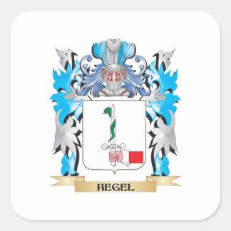 Escudo de armas de Hegel - escudo de la familia Calcomanía Cuadradas Personalizadas