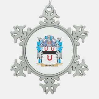 Escudo de armas de Heiden - escudo de la familia Adorno De Peltre En Forma De Copo De Nieve
