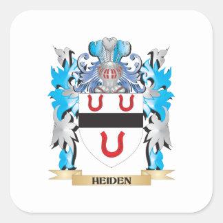Escudo de armas de Heiden - escudo de la familia Pegatina Cuadrada