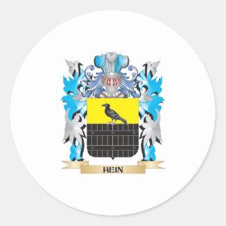 Escudo de armas de Hein - escudo de la familia Pegatina Redonda