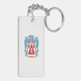 Escudo de armas de Heine - escudo de la familia Llavero Rectangular Acrílico A Doble Cara