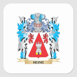 Escudo de armas de Heine - escudo de la familia Pegatina Cuadrada