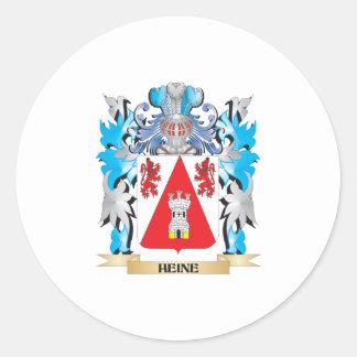 Escudo de armas de Heine - escudo de la familia Pegatina Redonda