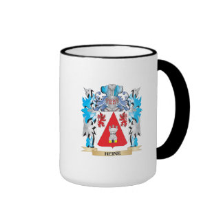 Escudo de armas de Heine - escudo de la familia Taza A Dos Colores