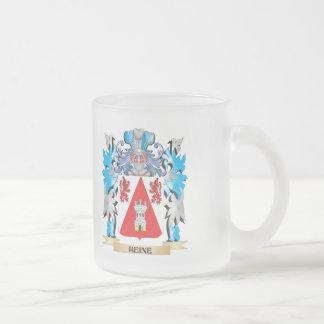 Escudo de armas de Heine - escudo de la familia Taza Cristal Mate