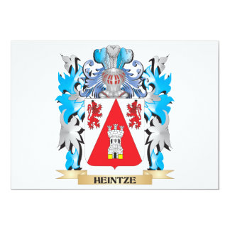 """Escudo de armas de Heintze - escudo de la familia Invitación 5"""" X 7"""""""