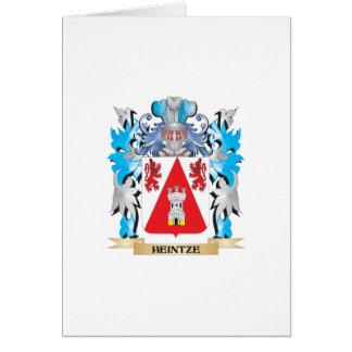 Escudo de armas de Heintze - escudo de la familia Tarjeta De Felicitación