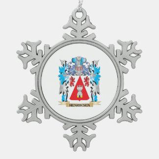 Escudo de armas de Henriksen - escudo de la Adorno De Peltre En Forma De Copo De Nieve