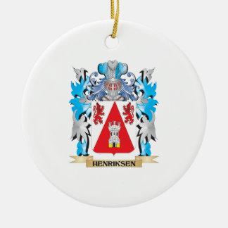 Escudo de armas de Henriksen - escudo de la Adorno Redondo De Cerámica