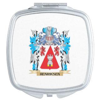 Escudo de armas de Henriksen - escudo de la Espejos Compactos