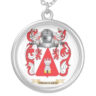 Escudo de armas de Henriksen (escudo de la familia Colgante Redondo