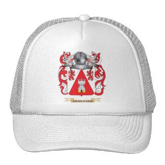 Escudo de armas de Henriksen (escudo de la familia Gorros Bordados