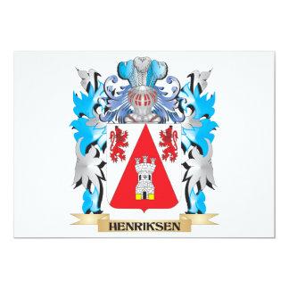 """Escudo de armas de Henriksen - escudo de la Invitación 5"""" X 7"""""""