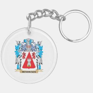 Escudo de armas de Henriksen - escudo de la Llavero Redondo Acrílico A Doble Cara