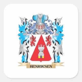 Escudo de armas de Henriksen - escudo de la Pegatina Cuadrada