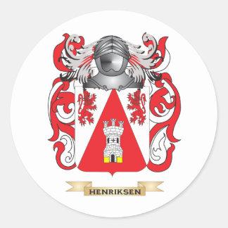 Escudo de armas de Henriksen (escudo de la Pegatina Redonda