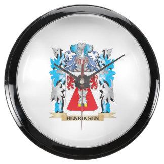 Escudo de armas de Henriksen - escudo de la Reloj Acuario