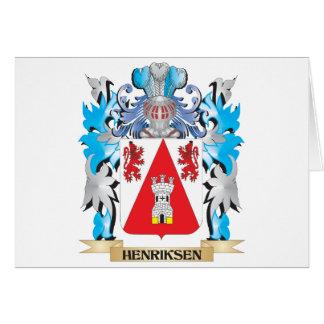 Escudo de armas de Henriksen - escudo de la Tarjeta De Felicitación