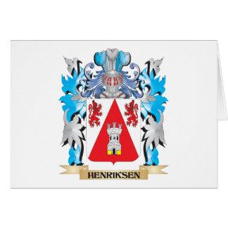 Escudo de armas de Henriksen - escudo de la Tarjeta Pequeña
