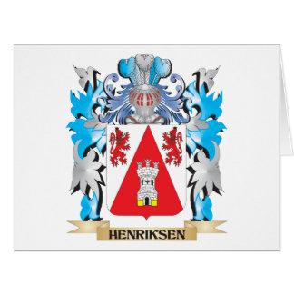 Escudo de armas de Henriksen - escudo de la Tarjeta De Felicitación Grande
