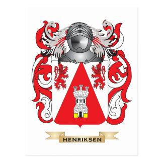 Escudo de armas de Henriksen (escudo de la Tarjeta Postal